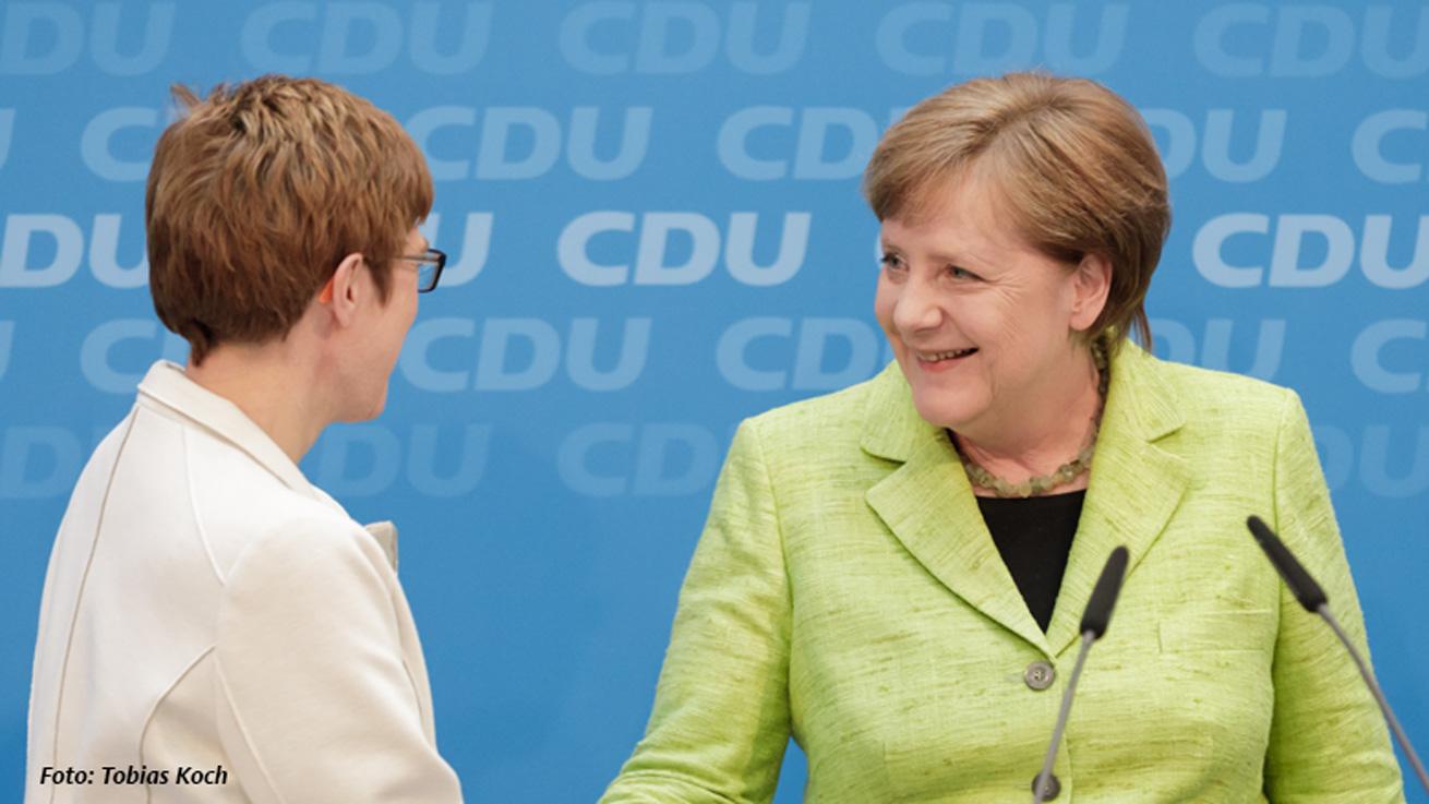 CDU Deutschlands gratuliert Annegret Kramp-Karrenbauer