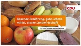 Gesunde Ernährung, gute Lebensmittel, starke Landwirtschaft