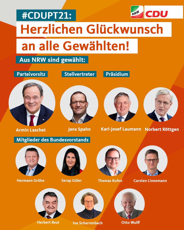 Gewählte Vorstandsmitglieder CDU NRW